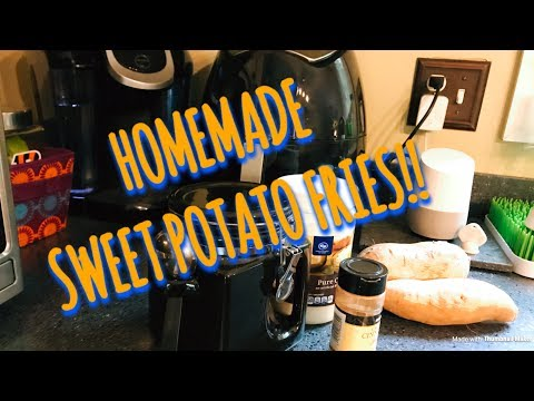 HOW TO MAKE SWEET POTATO FRIES! // Air Fryer Recipe AIRWISE Air Fryer // Cooking with SMITH 5