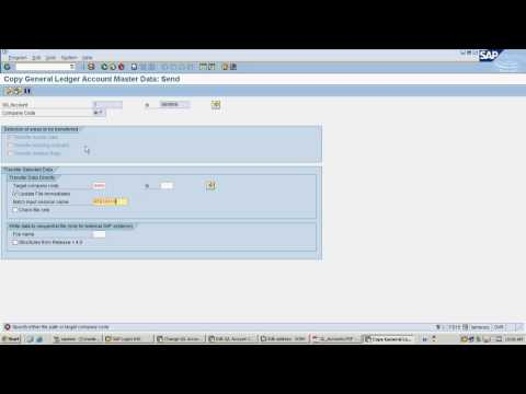 How to copy Bulk SAP Gl Master Data from one company code to other company codes in SAP  - LIVE demo