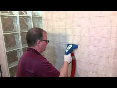 How we professionally clean tile and grout that has soap scum, mildew, and mold
