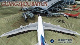 FSX a380 China Southern airlines landing Hong Kong (new