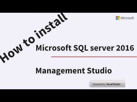 How to Install SQL Server 2016 Express and SQL Server Management Studio 2016 Express