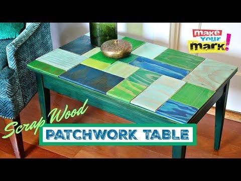 Scrap Wood Patchwork Table