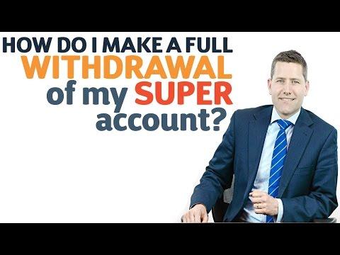 How do I make a full withdrawal of my super account?