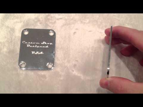 Custom Shop Designed Guitar Neck Plate for Fender Strat or Tele guitars