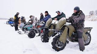 Grand battle of the cheapest winter vehicles: sleds, snowdogs, 2x2 atv etc.
