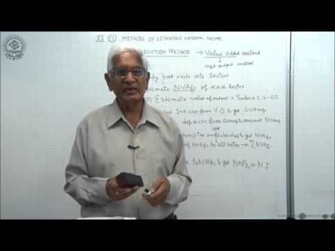 Production Method or Value Added Method Class XII Economics by S K Agarwala