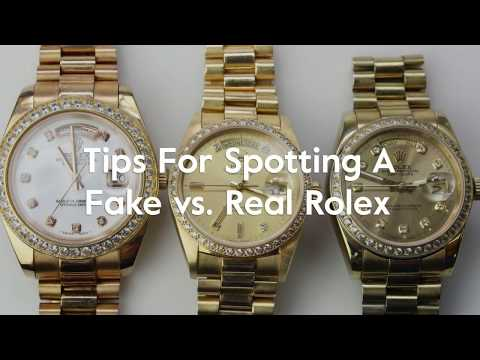Tips For Spotting A Fake vs  Real Rolex