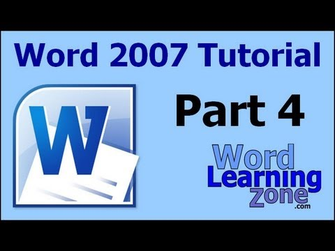 Microsoft Word 2007 Tutorial - part 04 of 13 - Entering Text 1