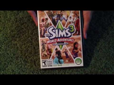 The Sims 3 World Adventures Unboxing
