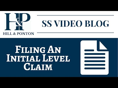 Filing an Initial Level Social Security Claim