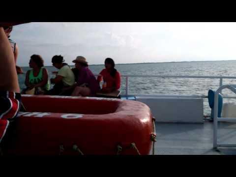 Korean Mafia on Ferry to Holbox Island, Mexico