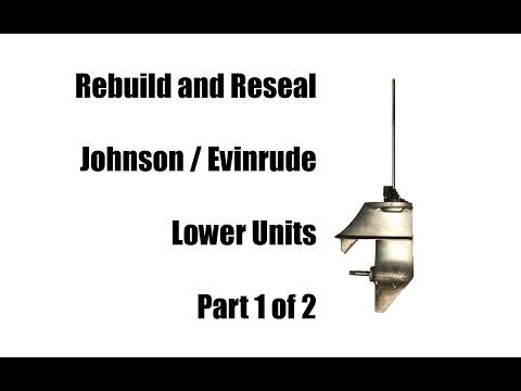 Rebuild Johnson Evinrude 6 Hp or 9.5 Hp Lower Unit Gearcase Part 1/2