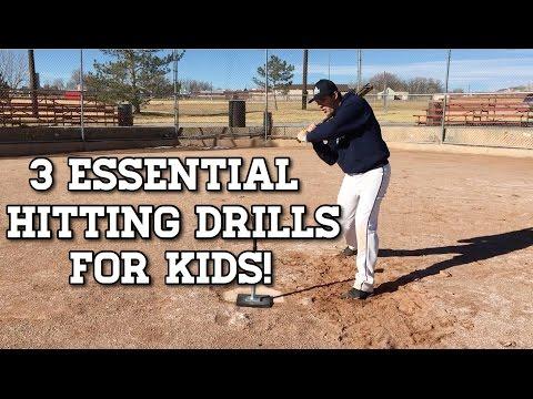 3 ESSENTIAL Baseball Hitting Drills for Kids!