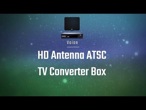Voion HD Antenna ATSC TV Converter Box  Setup, Settings, & Demonstration