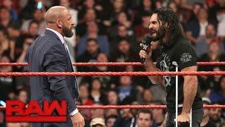 Seth Rollins signs Triple H