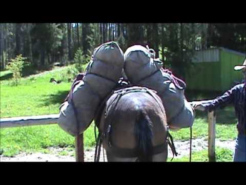 Balancing a load on a Decker pack saddle.