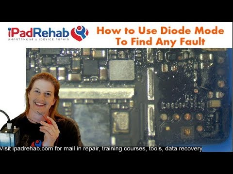 How to Use multimeter DIODE MODE to find ANY motherboard fault.