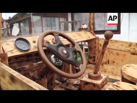Wooden wonder wows car enthusiasts in Hungary