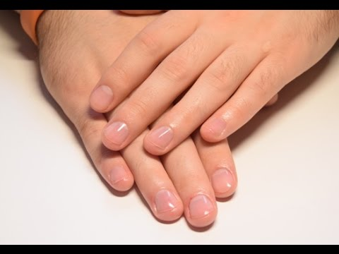 How to make boyfriend / man manicure (dry cleaning)
