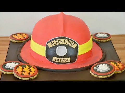 How to Make a  Fire Fighter's Helmet Cake