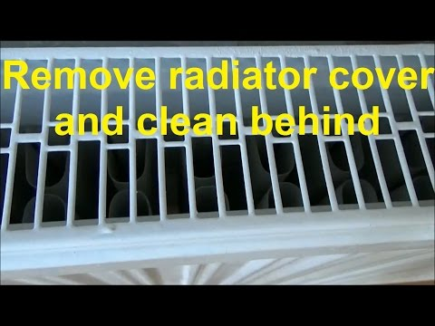 How to remove central heating radiator covers, to clean behind heating radiator