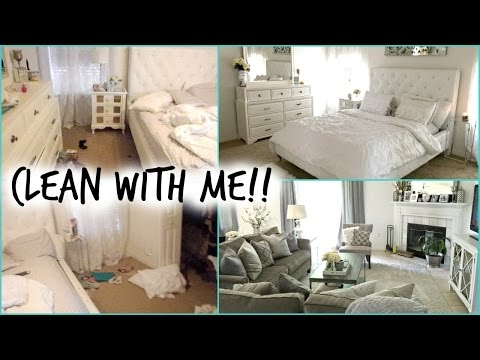 CLEAN WITH ME!! Bedroom & Living Room
