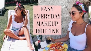 5 MINUTE SUMMER MAKEUP + OUTFIT IDEA! ALEXANDREA GARZA