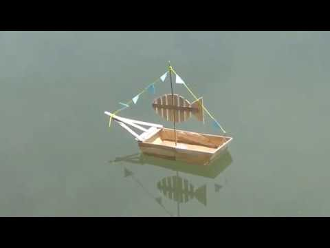 DIY Boat from popsicle sticks