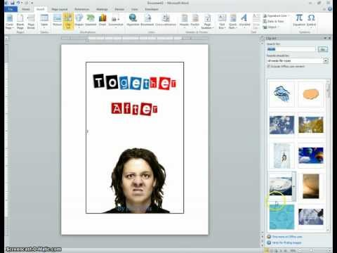 Monoface Mystery Project Part 3 - Making a Book Cover in MS Word