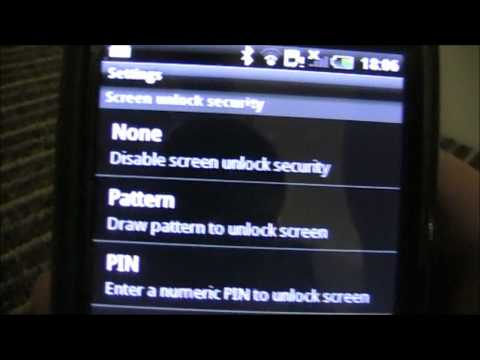 How to take off a security pin on an Android Phone.