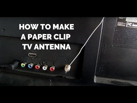 Paperclip Antenna Gets 20 Free Channels | HD TV for Free! | Homemade DIY Legal Cable