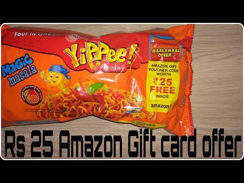 How to redeem yippee Amazon gift card offer!