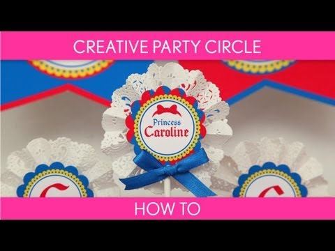 How to make : Creative Party Circle with Lace Paper Doilies ( Birthday Party ) // B40