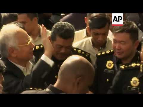 Ex Malaysian PM arrives at anti corruption body for more questioning