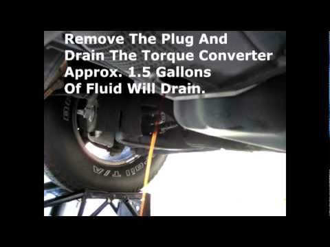 F150 Transmission 4R70W Fluid and Filter Change