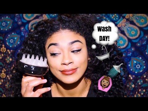 Wash Day-Natural Hair Care for Hair Growth and Dandruff Treatment   jasmeannnn
