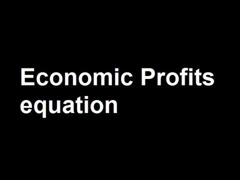 Economic Profits equation