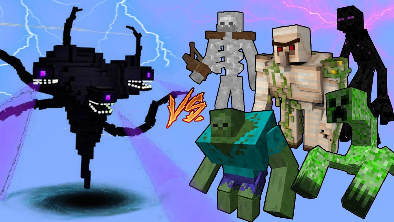 Wither Storm Vs. Mutant Monsters in Minecraft