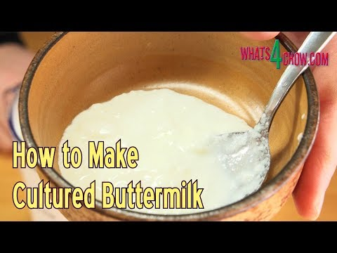 How to Make Cultured Buttermilk at Home - courtesy of Microcosm Publishing