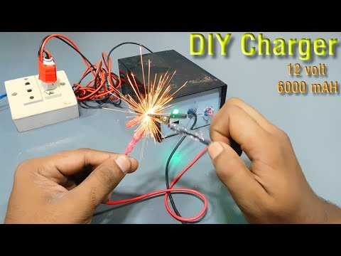 DIY 12 volt 3000 mAh battery charger | how to make a charger | homemade  charger | Stupid Engineer