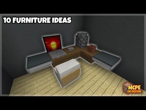 Mcpe Tutorials | 10 Awesome Furniture Ideas