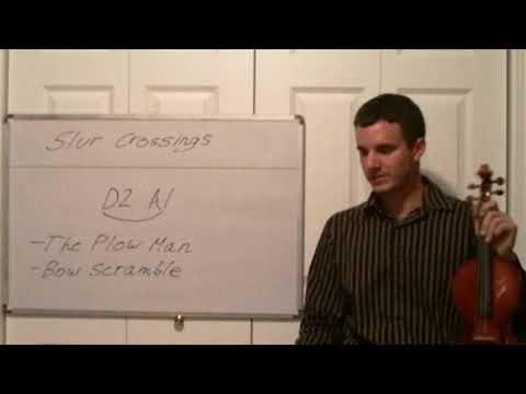 Violin Slur Crossings - Learn to play Slurs while Crossing Strings