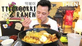Download [mukbang/cookbang with THIEN]: Tteokbokki (떡볶이) + Ramen (Korean Spicy Rice Cake & Noodles) Video