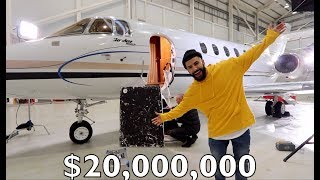 MY TEAM SURPRISED ME WITH A $20M DOLLAR PRIVATE JET!!