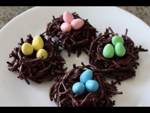 ✦ CHOCOLATE BIRD'S NEST HAYSTACKS for Easter ✦  チョコ鳥の巣  초콜릿 새 둥지 NOSHING WITH PARIS