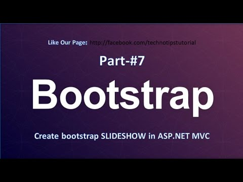 Bootstrap Tutorial - #7 Create slideshow | Asp.net mvc