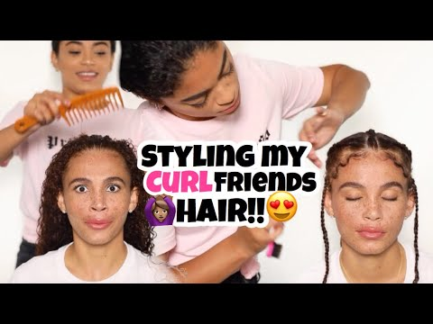 STYLING MY CURLfriends HAIR!! ft. Joyjah | jasmeannnn