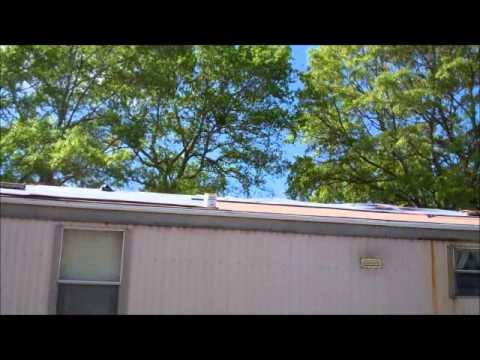 Rubber Roofing over a mobile home