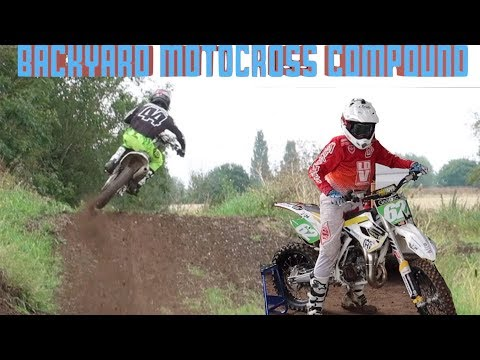 Backyard DirtBike Track With Pro Motocross Riders!!