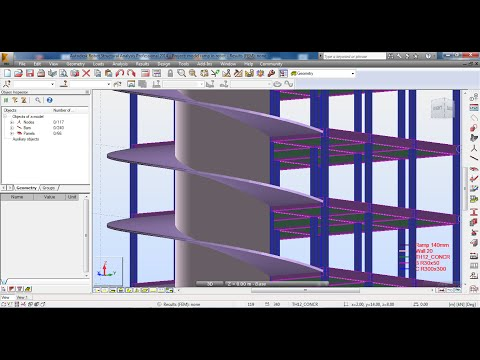Autodesk Robot Structural Analysis-Modeling of Ramp  (Spiral Stair)